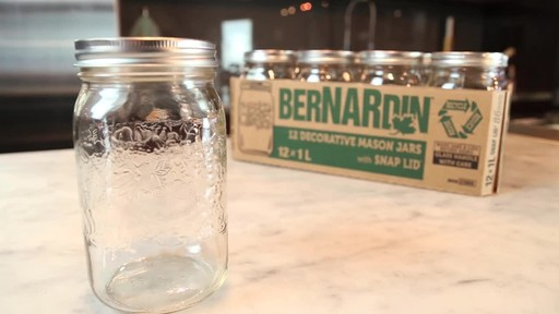 Bernardin Decorative Mason Jar 1 L Wide Mouth - image 4 from the video