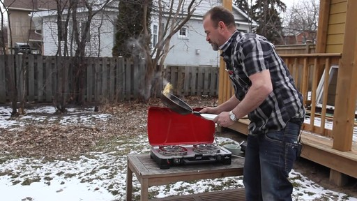 Coleman FyreSergeant 2-Burner Grill Stove - Ron's Testimonial - image 8 from the video