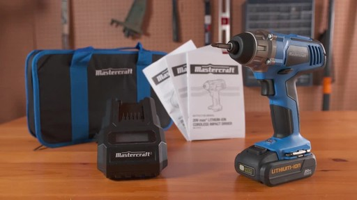 Mastercraft 20V Max 1/4-in Impact Driver - image 10 from the video
