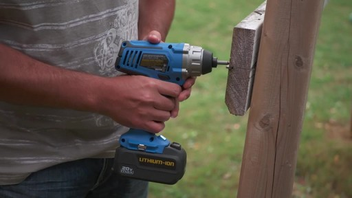 Mastercraft 20V Max 1/4-in Impact Driver - image 6 from the video