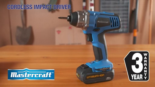 Mastercraft 20V Max 1/4-in Impact Driver - image 9 from the video