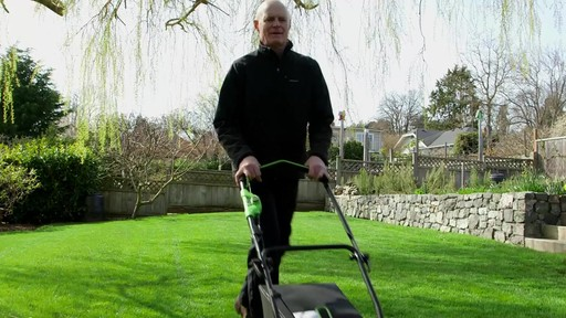 GreenWorks 40V Brushless Lawnmower - image 3 from the video