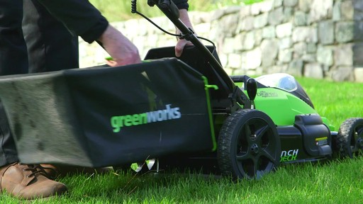 GreenWorks 40V Brushless Lawnmower - image 6 from the video