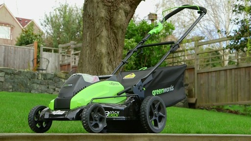 GreenWorks 40V Brushless Lawnmower - image 7 from the video