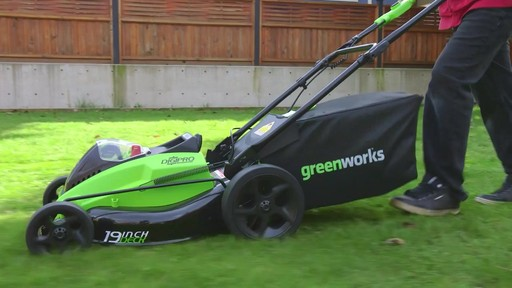 GreenWorks 40V Brushless Lawnmower - image 8 from the video