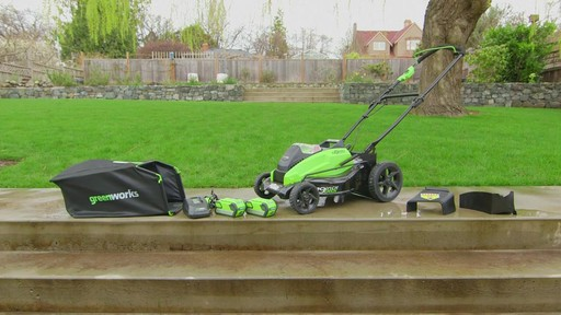 GreenWorks 40V Brushless Lawnmower - image 9 from the video