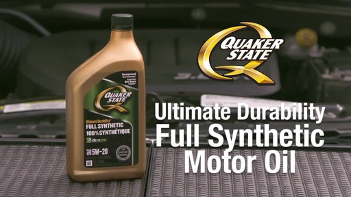 Quaker State Ultimate Durability Synthetic Motor Oil - image 1 from the video