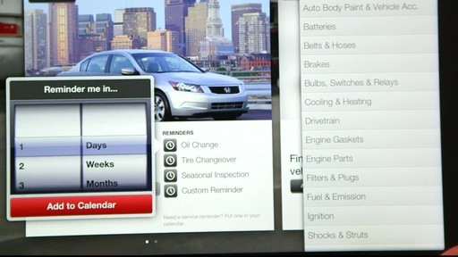 Canadian Tire iPad app: My Garage Feature  - image 7 from the video