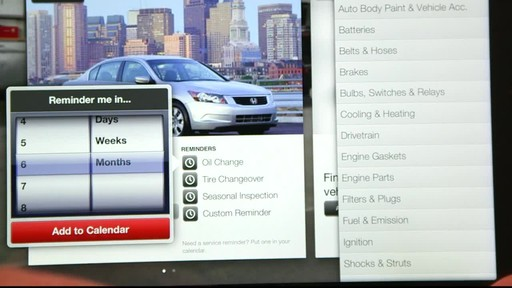 Canadian Tire iPad app: My Garage Feature  - image 9 from the video