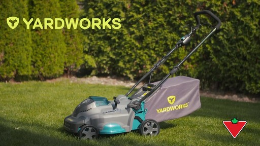Yardworks 40V Lithium Continuous Runtime Brushless Lawn Mower 17-in - image 1 from the video