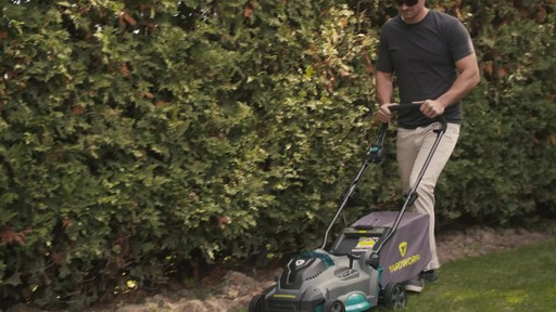 Yardworks 40V Lithium Continuous Runtime Brushless Lawn Mower 17-in - image 6 from the video