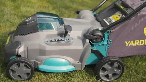 Yardworks 40V Lithium Continuous Runtime Brushless Lawn Mower 17-in - image 7 from the video