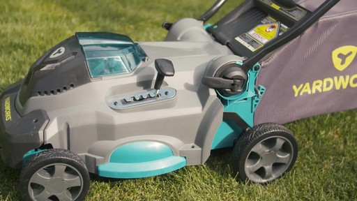 Yardworks 40V Lithium Continuous Runtime Brushless Lawn Mower 17-in - image 8 from the video