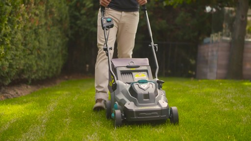 Yardworks 40V Lithium Continuous Runtime Brushless Lawn Mower 17-in - image 9 from the video