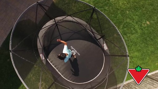 Outbound Oval Trampoline with Safety Enclosure, 13-ft - image 1 from the video