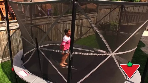 Outbound Oval Trampoline with Safety Enclosure, 13-ft - image 10 from the video
