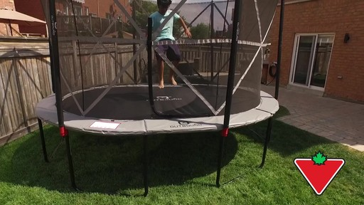 Outbound Oval Trampoline with Safety Enclosure, 13-ft - image 7 from the video