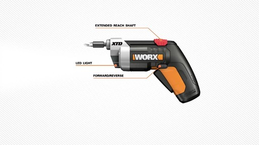Worx XTD Reach 4V Screwdriver - image 3 from the video