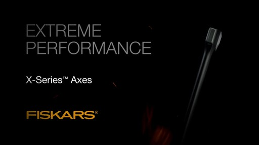 Fiskars X-Series Axes Power At Impact - image 1 from the video
