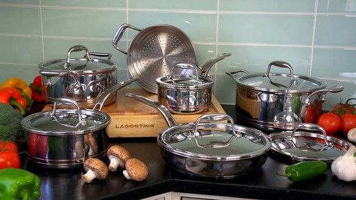 Lagostina 5-ply Copper Core Cookset, 12-pc - image 10 from the video