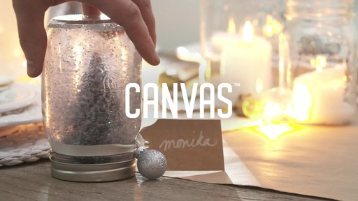 How to make a mason jar snow globe - image 1 from the video