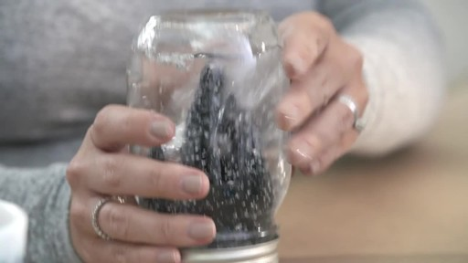 How to make a mason jar snow globe - image 8 from the video