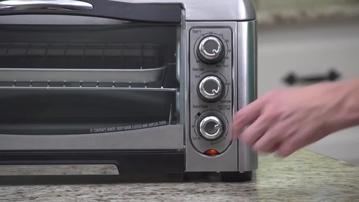 Hamilton Beach Easy- Reach Convection Toaster Oven - image 8 from the video