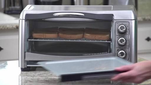 Hamilton Beach Easy- Reach Convection Toaster Oven - image 9 from the video