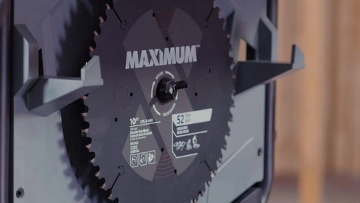 Maximum Compact Jobsite Table Saw, 10-in - image 10 from the video