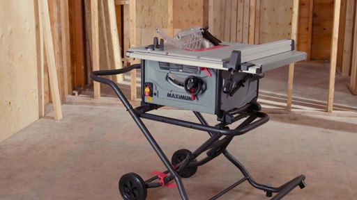 Maximum Compact Jobsite Table Saw, 10-in - image 5 from the video