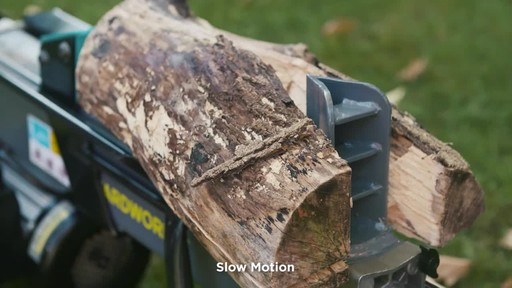 Yardworks 5-Ton Duo Cut Electric Log Splitter with pedal - image 7 from the video