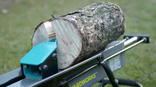 Yardworks 5-Ton Duo Cut Electric Log Splitter with pedal - image 9 from the video