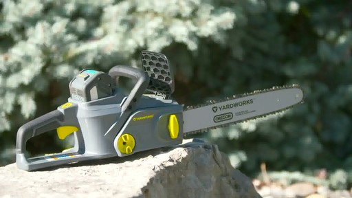 Yardworks 40V Brushless Chainsaw, 14-in - image 9 from the video
