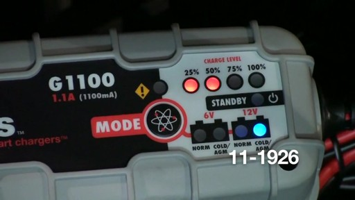 Noco Genius G1100 Smart Battery Charger - image 7 from the video