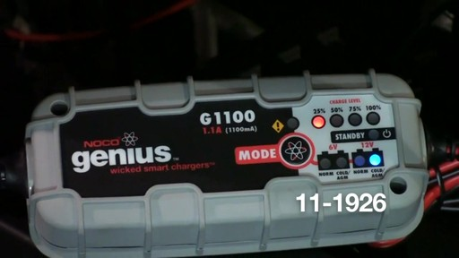 Noco Genius G1100 Smart Battery Charger - image 8 from the video