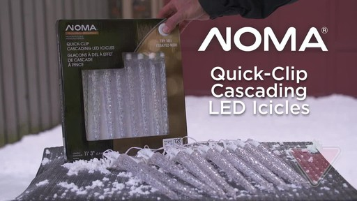 NOMA Quick-Clip Cascading LED Icicles - image 1 from the video