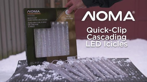 NOMA Quick-Clip Cascading LED Icicles - image 10 from the video