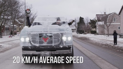 World Record Drive Attempt by the Canadian Tire Ice Truck (Winter 2013) - image 7 from the video