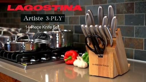 Lagostina Hand Hammered Cutlery Set, 14-pc - image 10 from the video
