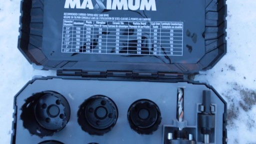 MAXIMUM Plumber's Carbide Tip Hole Saw Set - Jim's Testimonial - image 1 from the video