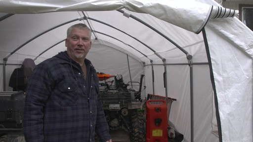 ShelterLogic Accelaframe™ HD Shelter - Richard's Testimonial - image 8 from the video