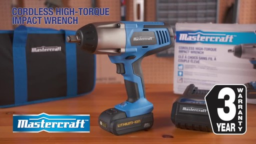 Mastercraft 20V Max High Torque Impact Wrench - image 10 from the video