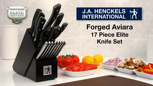Henckels Forged Aviara Knife Set, 17-pc - image 10 from the video