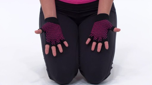 Gaiam Super Grippy Yoga Gloves     - image 2 from the video