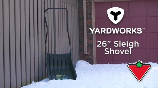 Yardworks Sleigh Shovel, 22-in - image 1 from the video