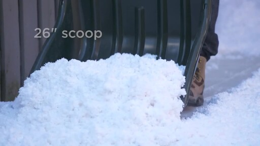 Yardworks Sleigh Shovel, 22-in - image 3 from the video