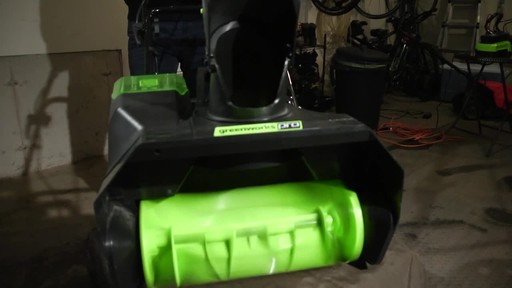 Greenworks 80V Brushless Snowthrower - Tony's Testimonial - image 7 from the video