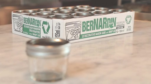 Bernardin Decorative Mason Jar 125 ml - image 1 from the video