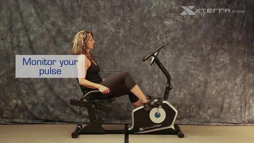 Xterra XT201R Recumbent bike - image 8 from the video