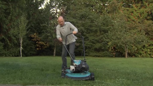 Yardworks High Wheel Push Mower - Chris' Testimonial - image 8 from the video